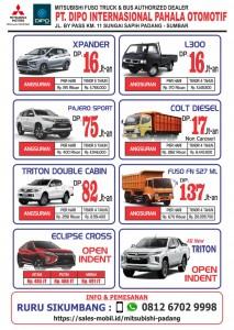 PROMO DP RINGAN SEPTEMBER DI GEBER  Sales Mitsubishi Padang