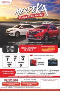 Promo Honda Medan SPECIAL Bulan Agustus 2019  Sales Honda Medan