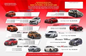 Harga OTR HONDA wilayah Medan 2019 Sales Honda Medan