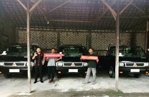Serah terima 3 unit Pick Up L 300 bak rata  Mitsubishi Rembang