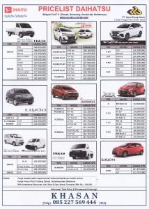 PRICE PER 09 MEI 2020 DAIHATSU JEPARA Sales Daihatsu Jepara