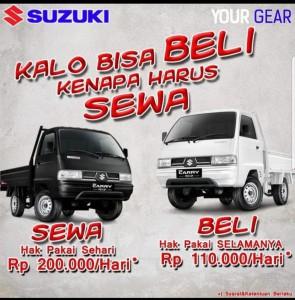 Promo Suzuki Medan. Kalo bisa beli kenapa harus sewa?