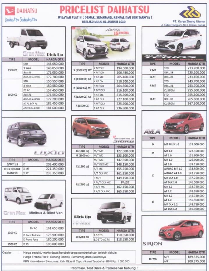 Dealer Resmi Daihatsu Kudus Menjual Daihatsu Cash Kredit Terbaik Dengan Harga Terbaik