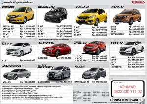 Promo Harga Mobil Honda Surabaya 2020 Sales Honda Surabaya