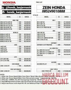 Promo Dp murah atau Angsuran Ringan Honda Trio Banjarmasin Sales Honda Banjarmasin
