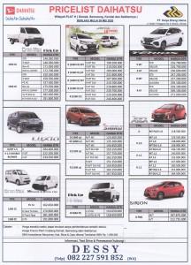Harga Daihatsu wilayah plat H (Demak, Semarang, Kendal dan sekitarnya) Sales Daihatsu Purwodadi