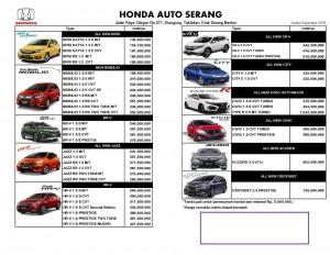 Harga OTR 2018 Auto Honda Serang